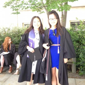 (Sally on the right on graduation day.)
