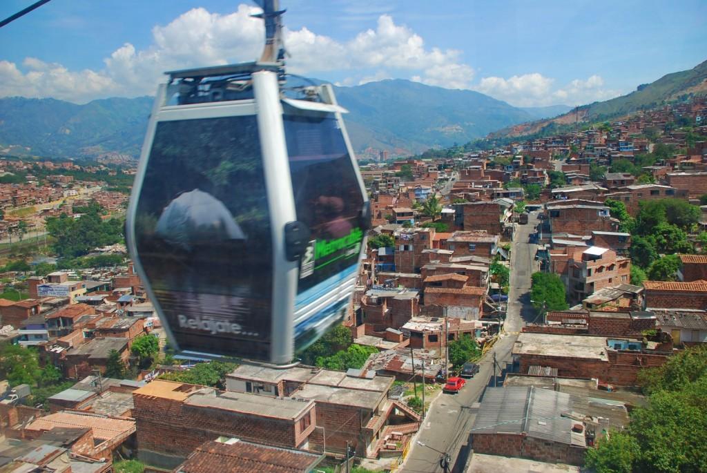 Metro cable car in Medellin. Courtesy of virtualtourist.com.
